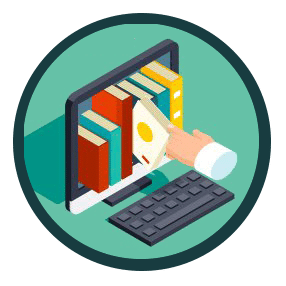 Digital-Library-Downloads-Icon
