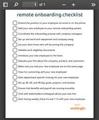 cecklist for remote onboarding